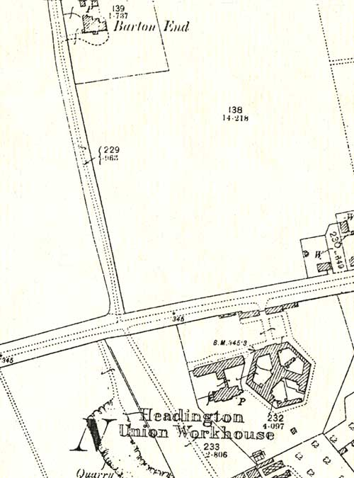 1898 map showing Barton End
