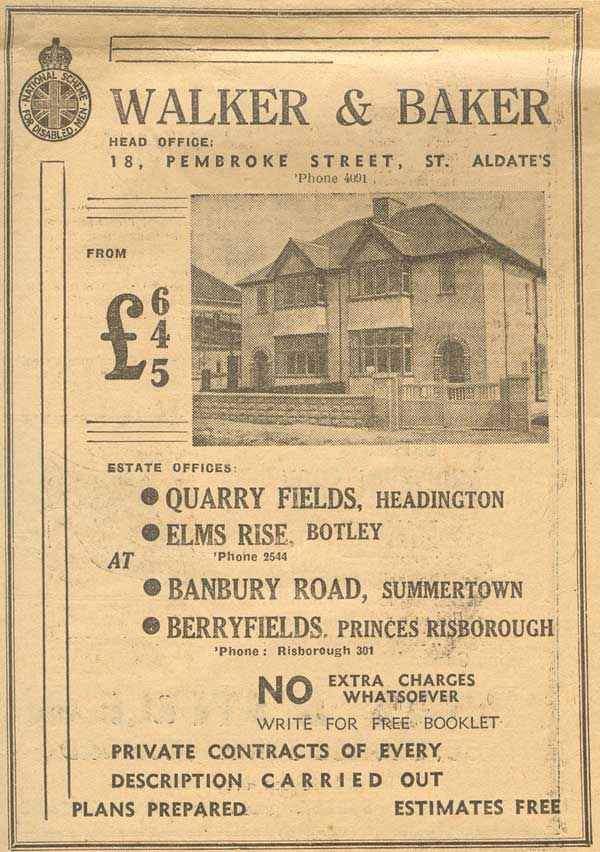 1937 ad for housing in Quarry
