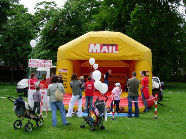 Oxford Mail bouncy castle