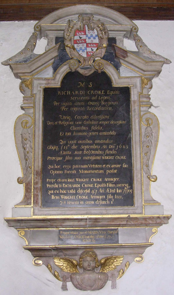 Inscription to the Croke family