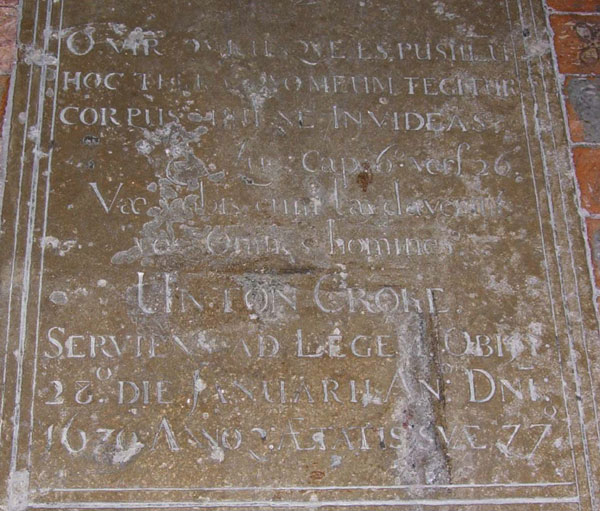 Inscription to Unton Croke