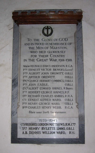 War memorial, Old Marston Church