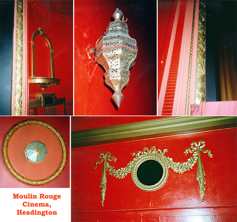 Details of inside the cinema