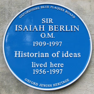 Plaque to Sir Isaiah Berlin