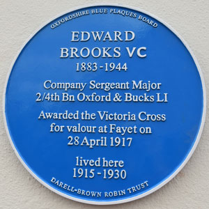 Brooks blue plaque