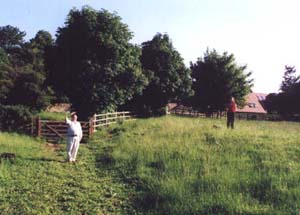 Clifford Jones in Barton Lane field
