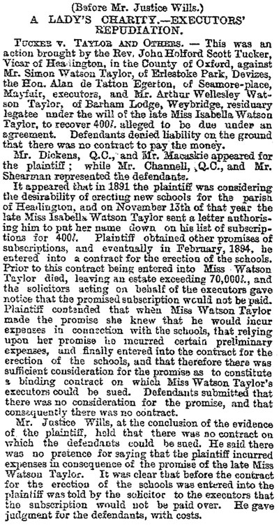 Court case about school money, 1897