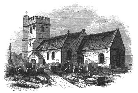 Jewitt engraving, St Andrew's Church