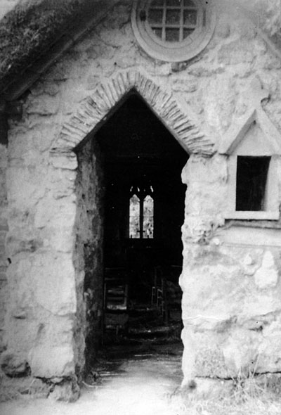 Entrance to St Ebba's Chapel