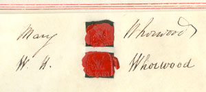 Signature of Mary Whorwood and W. H. Whorwood