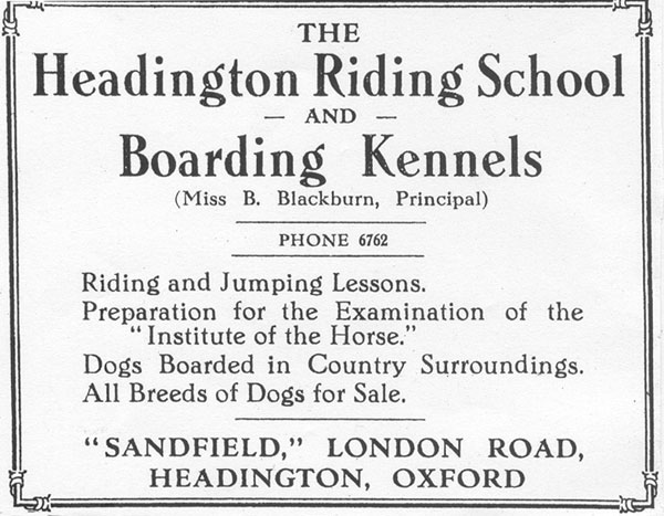 Advertisement of 1933