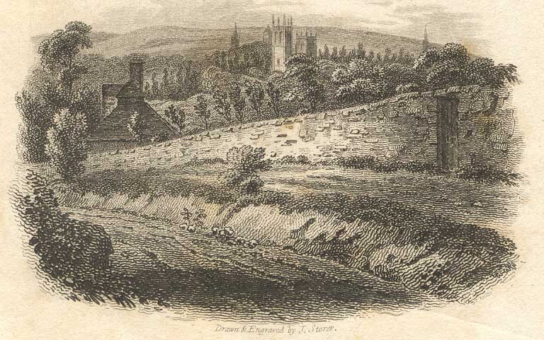 Path up hill in 1810