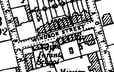1898 map of Windsor Street