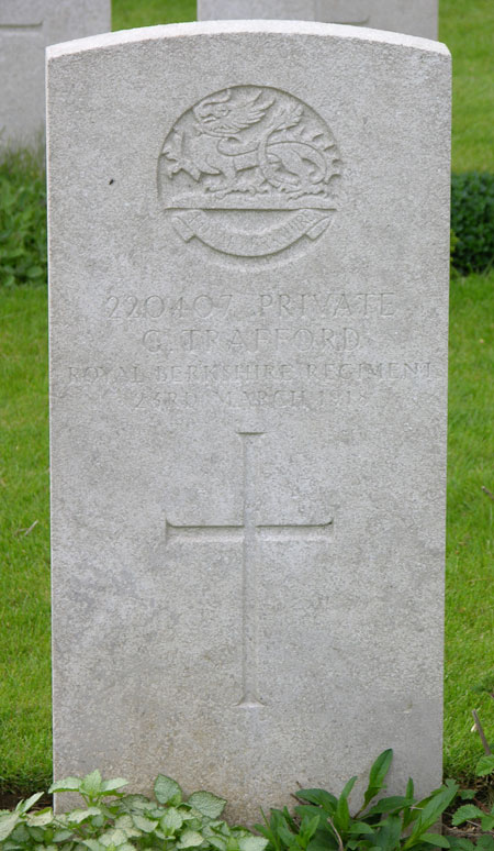 George Trafford's grave