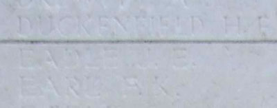 J. E. Eadle on Tyne Cot Memorial
