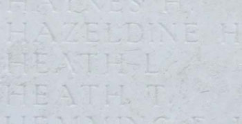 L. Heath on Tyne Cot Memorial