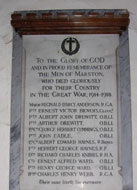 Old Marston memorial